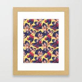 Mixed Tropical Floral Framed Art Print