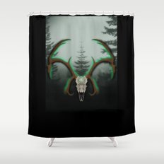 C-1 Horns Shower Curtain