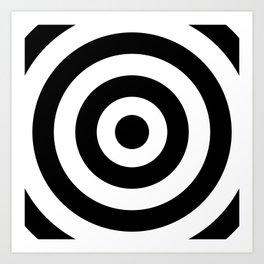 Target (Black & White Pattern) Art Print