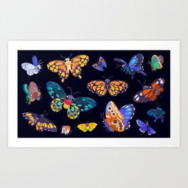 Butterflies Day Art Print