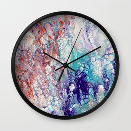 Fantasy (red, blue, purple) Wall Clock