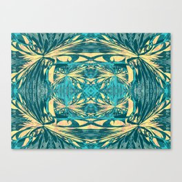 Glowing Gold Turquoise Contemporary Tribal Wall Hanging Canvas Print