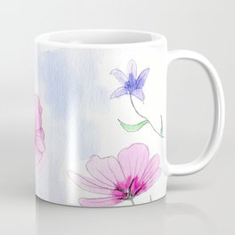 flower illustration with watercolor and pencil Coffee Mug