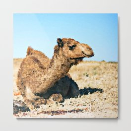 Poly Animals - Camel Metal Print