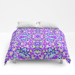 Arabesque kaleidoscopic Mosaic G514 Comforters