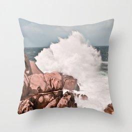 Kiss of the Sea II Throw Pillow