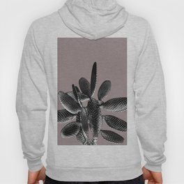 Black Mauve Cactus #1 #plant #decor #art #society6 Hoody