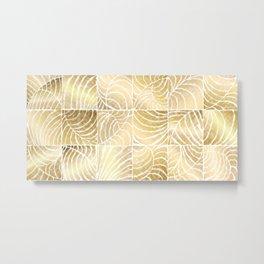 Tropic Gold Metal Print