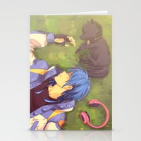 dramatical murder Stationery Cards featuring Dramatical Murder-Aoba & Ren by Gin-Uzumaki