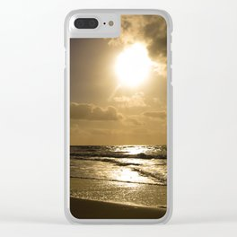 Clouds over the sea of Sylt Island Clear iPhone Case