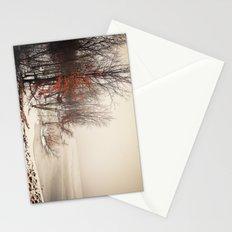 On winters frozen pond Stationery Cards