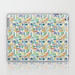 Retro Fish White Laptop & iPad Skin