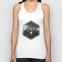 tokyo Tank Tops featuring TOKYO by ELECTRICBLOOM