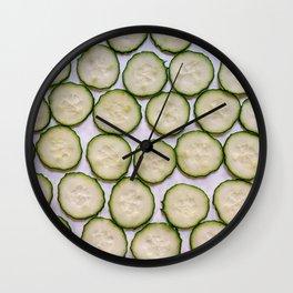 Cut Cucumber Pattern Wall Clock