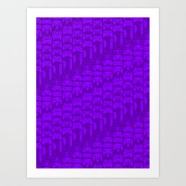 Video Game Controllers - Purple Art Print