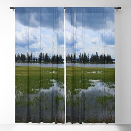 Yellowstone Lake At Pelican Creek Blackout Curtain