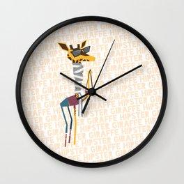 Hipster Giraffe Wall Clock