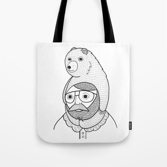On how baby bears are often used as winter hats Tote Bag