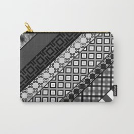 Black / white patchwork Carry-All Pouch