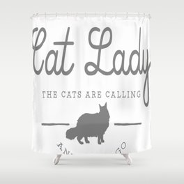 Crazy Town Cat Lady Shower Curtain