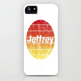 Name Jeffrey in the sunset vintage sun iPhone Case