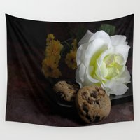 cookie Wall Tapestries featuring Cookie Crumbles by writingoverashes