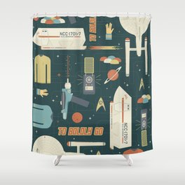 To Boldly Go... Shower Curtain