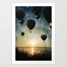 Lighting the night Art Print
