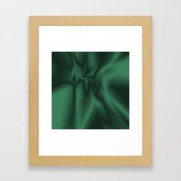 Green silk Framed Art Print