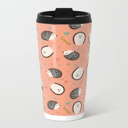 Hedgegogs in the Forest Metal Travel Mug