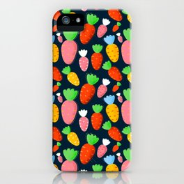 Carrots not only for bunnies - seamless pattern iPhone Case
