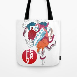 The Dive in Coral Tote Bag