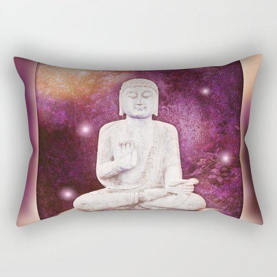 BUDDHA   Red Lights Rectangular Pillow