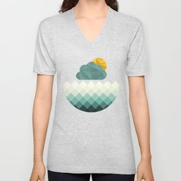 Sea Polygons Unisex V-Neck
