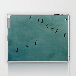 GEESE FLYING - TEAL Laptop & iPad Skin