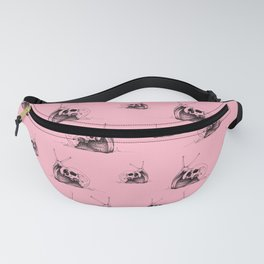 This Skull Is My Home (Snail & Skull) - Blush Pink & Charcoal Black Fanny Pack
