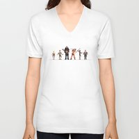 conan V-neck T-shirts featuring Conan the Pixelated by 84Nerd