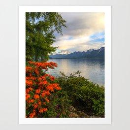 Springtime in Montreux, Switzerland Art Print