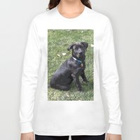 lab Long Sleeve T-shirts featuring Black Lab by Sierra LaFrance