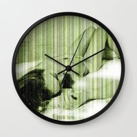 naked Wall Clocks featuring Naked by Cesar Peralta