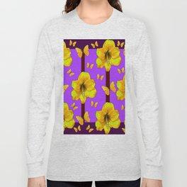 FOR THE LOVE OF BUTTERFLIES PURPLE ART Long Sleeve T-shirt