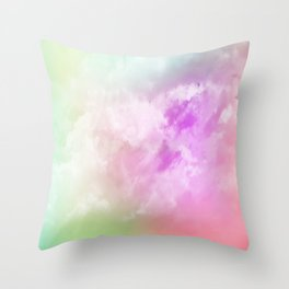 NEPHELAI SERIES Rainbow nubes Throw Pillow
