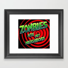 Zombies Ate My Neighbors Framed Art Print