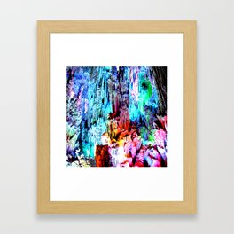 Cavern in Greece Framed Art Print