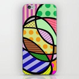 Retro Curves - Big Bold Geometric Patterns iPhone Skin