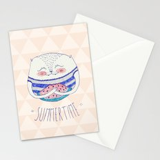 summertime cat Stationery Cards