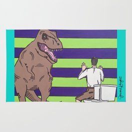 "Jurassic Park ""Died on the Shitter"" Rug"