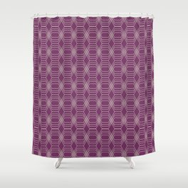 Hopscotch hex-Plum Shower Curtain