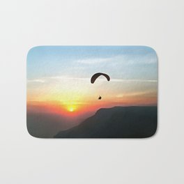 Sunset Paraglide Bath Mat