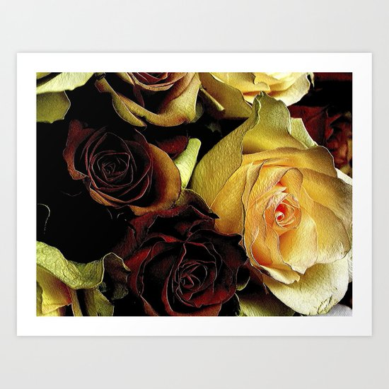 LOVE over GOLD Art Print